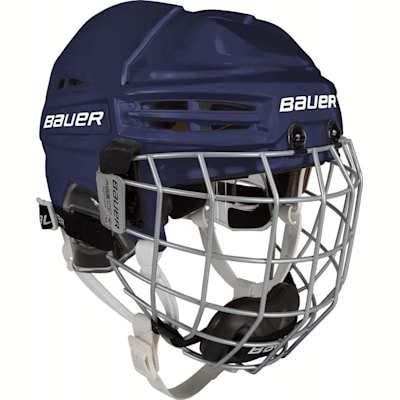 Navy (Bauer RE-AKT 100 Hockey Helmet Combo - Youth)