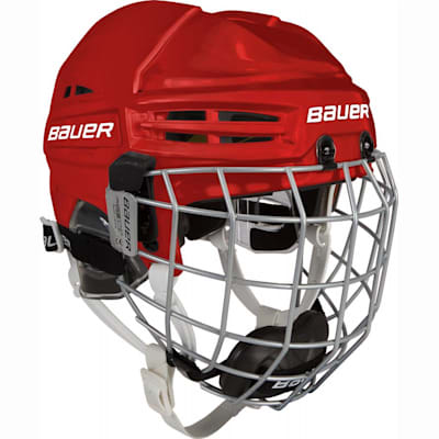 Red (Bauer RE-AKT 100 Hockey Helmet Combo - Youth)
