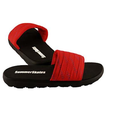 Red with Blue (SummerSkates Sandals - Senior)