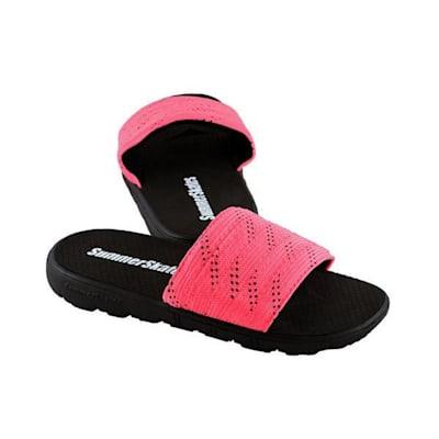 Pink with Black (SummerSkates Sandals - Senior)