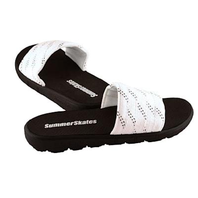 White with Black (SummerSkates Sandals - Senior)