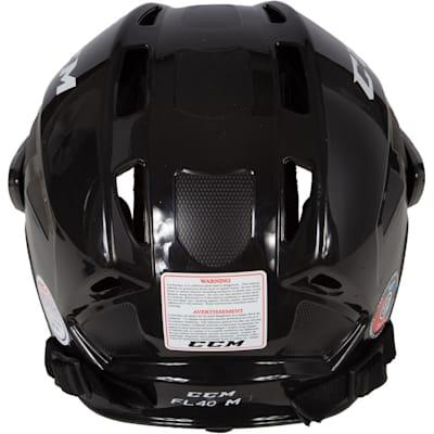 Back View (CCM Fitlite FL40 Hockey Helmet Combo)
