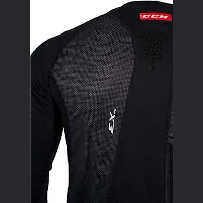 Shoulder View (CCM Long Sleeve Compression Shirt w/ Grip - Youth)