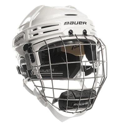 White/White (Bauer RE-AKT 75 Hockey Helmet Combo)