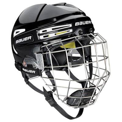 Black/White (Bauer RE-AKT 75 Hockey Helmet Combo)