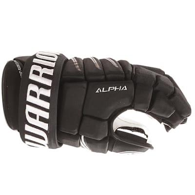 Alpha QX Pro Glove - Side View (Warrior Alpha QX Pro Hockey Gloves - Junior)