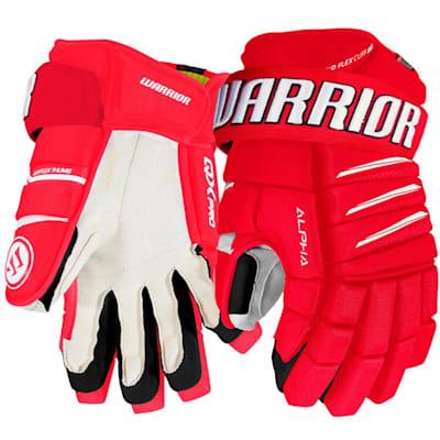 Red/White (Warrior Alpha QX Pro Hockey Gloves - Junior)