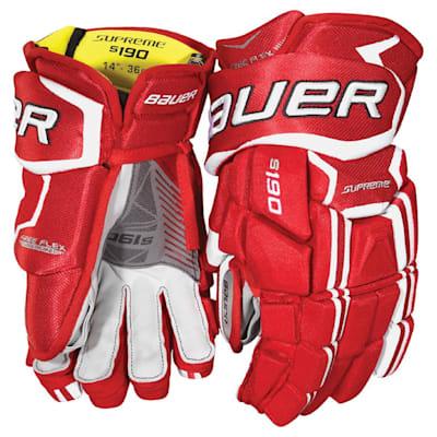 (Bauer Supreme S190 Hockey Gloves - 2017 - Junior)