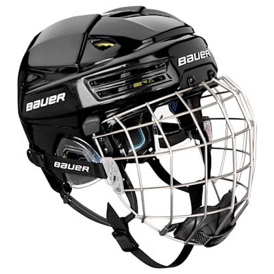 Black (Bauer RE-AKT 200 Hockey Helmet Combo)