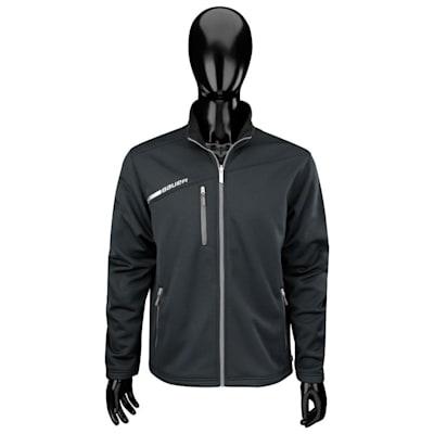 Black (Bauer Flex Full Zip Tech Hockey Fleece - Junior)