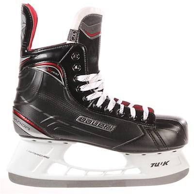 S17 Vapor X400 Ice Skate - Side View (Bauer Vapor X400 Ice Hockey Skates - 2017 - Junior)