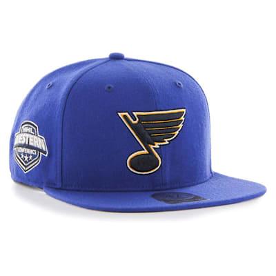 (47 Brand St. Louis Blues Sure Shot Captain Snapback Cap)