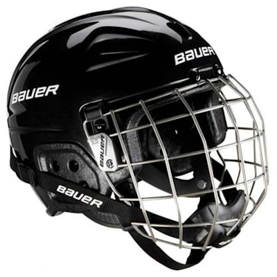 Black (Bauer Lil Sport Hockey Helmet Combo - Youth)