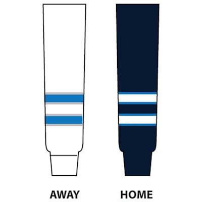 Dogree NHL Team Hockey Socks - Winnipeg (NHL Team Hockey Socks - Winnipeg Jets - Senior)