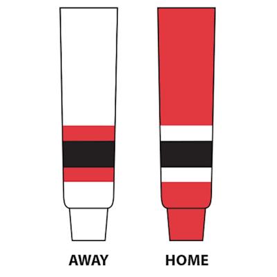 (NHL Team Hockey Socks - New Jersey Devils - Intermediate)