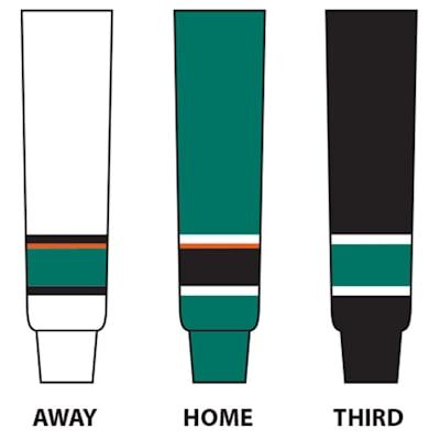 (NHL Team Hockey Socks - San Jose Sharks - Intermediate)