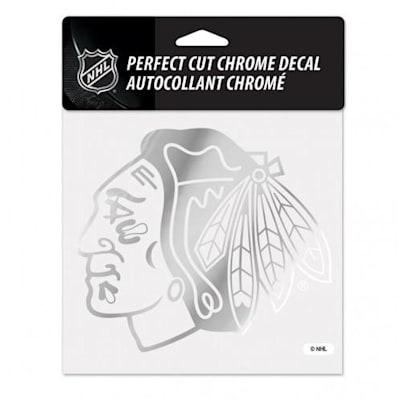 WinCraft Perfect Cut Hockey Chrome Decal - Chicago (Wincraft Perfect Cut Hockey Chrome Decal - Chicago Blackhawks)