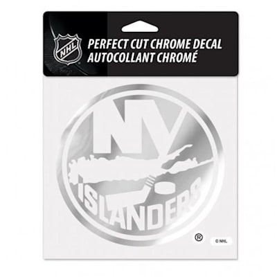 Perfect Cut Chrome Decal NYI (Wincraft Perfect Cut Hockey Chrome Decal - Chicago Blackhawks)