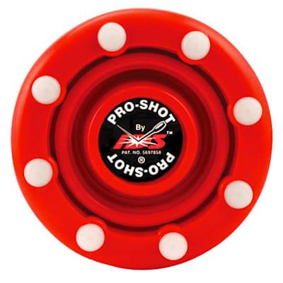 Red (IDS Pro Shot Inline Hockey Puck)