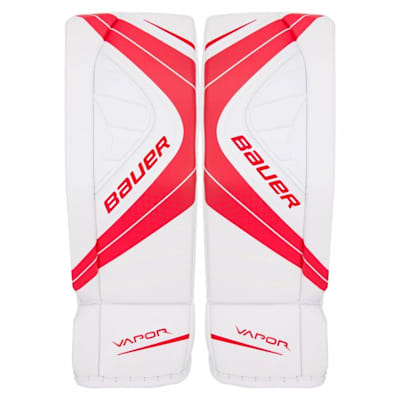 White/Red (Bauer Vapor X900 Goalie Leg Pads - Senior)