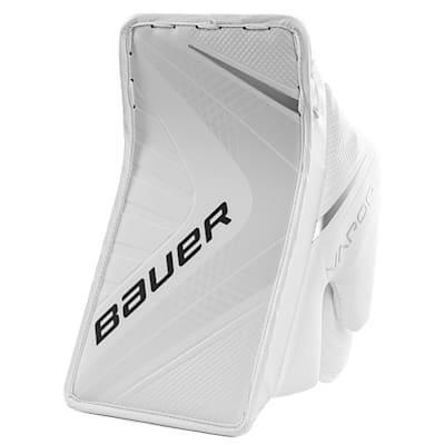 White/White (Bauer Vapor 1X Goalie Blocker - Intermediate)