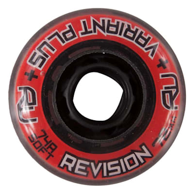 (Bauer Revision V-Plus Soft Inline Wheels - Red)