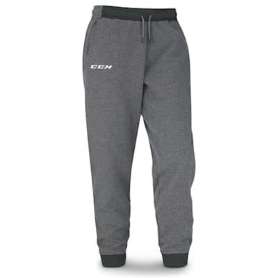 Grey (CCM Core Fleece Cuffed Sweatpants - Adult)
