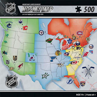 (MasterPieces NHL Map Puzzle)