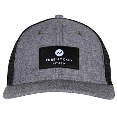 (Pure Hockey Chambray Grey Mesh Back Hat - Youth)