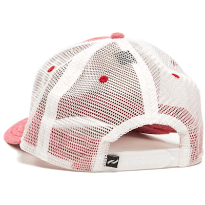 Back View (Pure Hockey Chambray Red Mesh Back Hat - Adult)