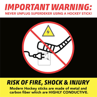 DO NOT USE STICK TO UNPLUG (SuperDeker Advanced Hockey Training System)