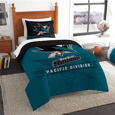 "Sharks (Northwest Company NHL ""Draft"" Twin Comforter & Sham)"
