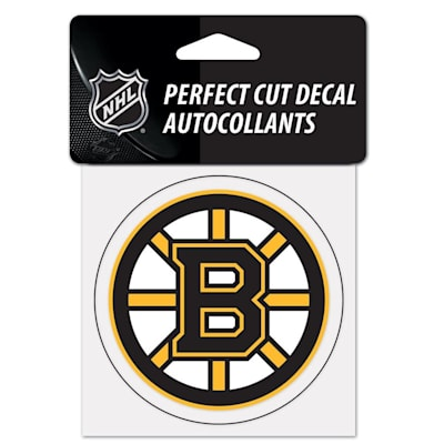 """NHL 4 x 4 Color Decal - BOS (Wincraft NHL Perfect Cut Color Decal - 4"""" x 4"""" - Boston Bruins)"""