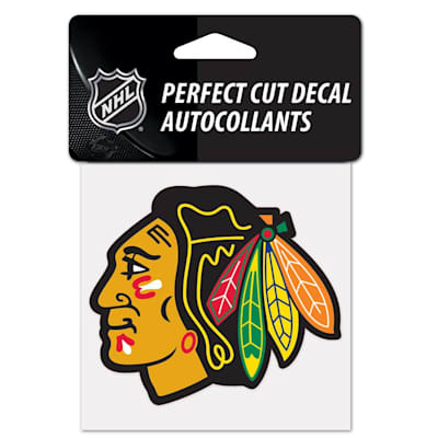 """NHL 4 x 4 Color Decal - CHI (Wincraft NHL Perfect Cut Color Decal - 4"""" x 4"""" - Chicago Blackhawks)"""