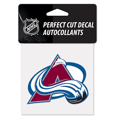 """NHL 4 x 4 Color Decal - COL (Wincraft NHL Perfect Cut Color Decal - 4"""" x 4"""" - Colorado Avalanche)"""