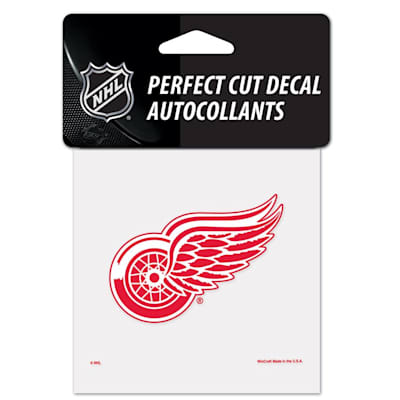 """NHL 4 x 4 Color Decal - DET (Wincraft NHL Perfect Cut Color Decal - 4"""" x 4"""" - Detroit Red Wings)"""