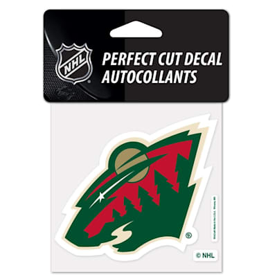 "NHL 4 x 4 Color Decal - MIN (Wincraft NHL Perfect Cut Color Decal - 4"" x 4"" - Minnesota Wild)"