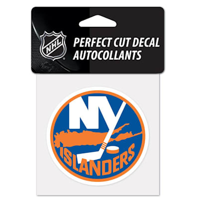 """NHL 4 x 4 Color Decal - NYI (Wincraft NHL Perfect Cut Color Decal - 4"""" x 4"""" - New York Islanders)"""