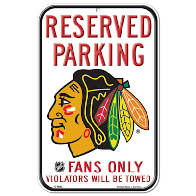 (Wincraft NHL Reserved Parking Sign - Chicago Blackhawks)