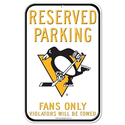 (Wincraft NHL Reserved Parking Sign - Pittsburgh Penguins)