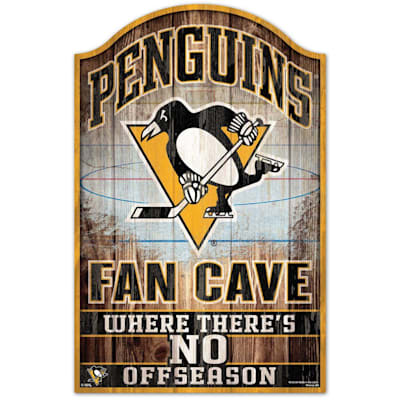 """(Wincraft NHL Wood Sign - 11""""  x 17"""" - Pittsburgh Penguins)"""