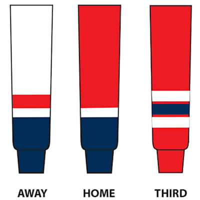 Dogree NHL Team Hockey Socks - Washington (NHL Team Hockey Socks - Washington Capitals - Tyke)