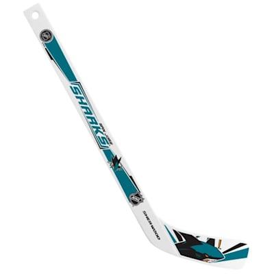 (InGlasco Plastic Player Mini-Stick - San Jose Sharks)