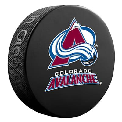 (InGlasco NHL Basic Logo Puck - Colorado Avalanche)