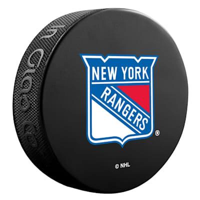 (InGlasco NHL Basic Logo Puck - New York Rangers)