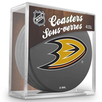 (InGlasco Puck Coasters Pack - Anaheim Ducks)