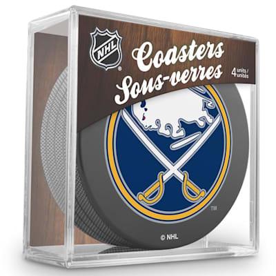 (InGlasco Puck Coasters Pack - Buffalo Sabres)