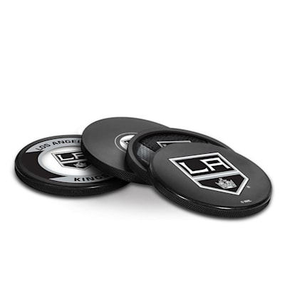 (InGlasco Puck Coasters Pack - Los Angeles Kings)