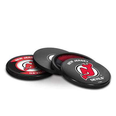 (InGlasco Puck Coasters Pack - New Jersey Devils)