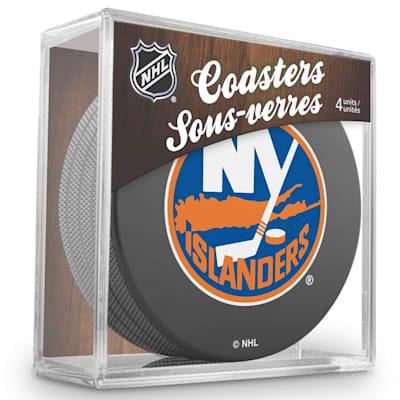 (InGlasco Puck Coasters Pack - New York Islanders)